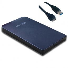 """IT-CEO - Boitier Noir USB 3.0 pour disque dur externe 2,5"""" SATA -compatible USB 2"""
