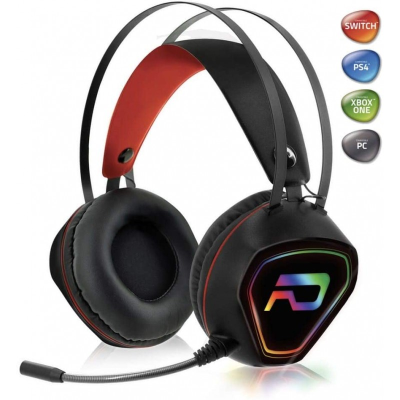 Advance - Casque Audio Gamer RGB pour Xbox One, PS4, PC, Switch