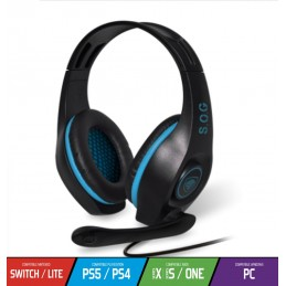 Casque Gaming PRO-H5 Bleu avec Micro Compatible XBOX One, PS4, PS5, SWITCH, PC - Spirit of Gamer