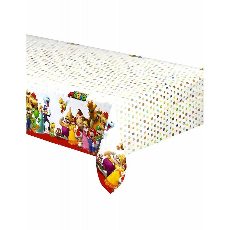 AMSCAN - NAPPE Plastifiée Super Mario 2 1.80m x 1.20m