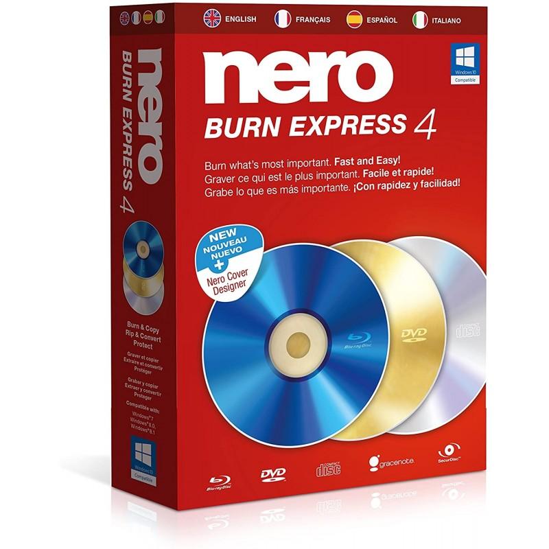 BOITE NERO Burn Express 4 - français espagnol italien anglais