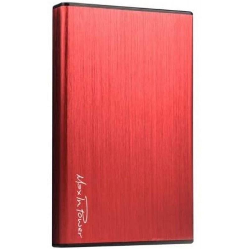 Heden - Boitier Externe USB3.0 pour DD 2.5'' Aluminium brossé Rouge