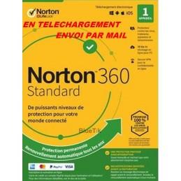 NORTON 360 STANDARD 2021 ESD ABO 1 Appareil - 1APP - 1 AN - 10GB CLOUD - Envoyé par mail
