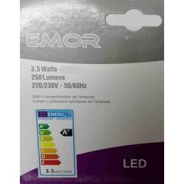 EMOR  - 1-x-ampoule-spot-LED-E14-flamme-250-lm-3-5W-lumiere-chaude-2800K-230V