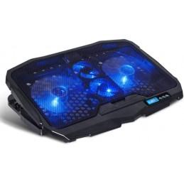 "Refroidisseur AirBlade 600 Blue 17"" avec Contrôleur LCD, 4 ventilateurs silencieux, LED bleu - Spirit of Gamer"