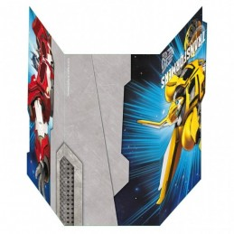 AMSCAN - Lot 6 Cartes invitation + enveloppes TRANSFORMERS