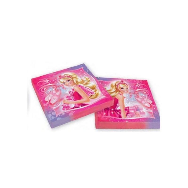 AMSCAN - 20 Serviettes Papier Barbie Pink Shoes 32.7 x 32.7cm