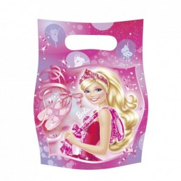 AMSCAN - 6 Sachets fête, Sac à bonbons Barbie Pink Shoes