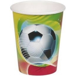 AMSCAN - 8 Gobelets Carton Football Party 2 266ml