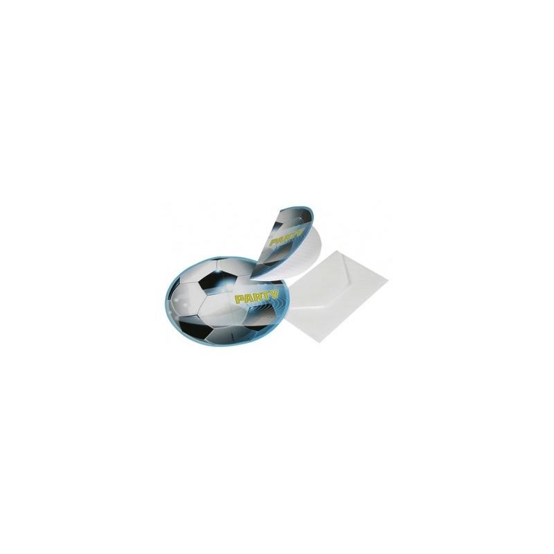 AMSCAN - Lot 6 Cartes invitation + enveloppes Football Party 2
