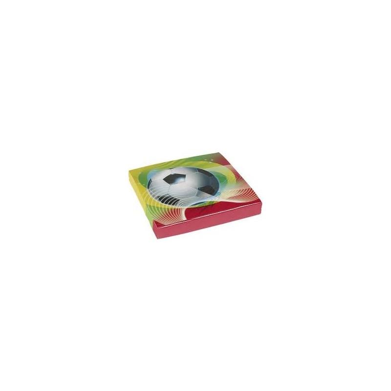 AMSCAN - Lot 20 Serviettes Papier Football Party 2 32.7 x 32.7cm