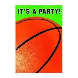 AMSCAN - Lot 8 Cartes invitation + enveloppes Basketball