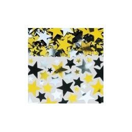 AMSCAN - Sachet Confettis métallique 70g Couleur or - argent - noir