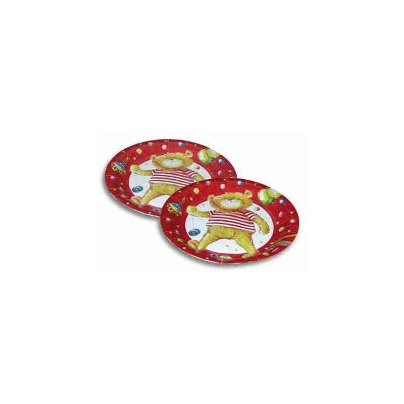 Riethmuller - Lot 8 assiettes en carton Ourson Teddy 23cm diamètre