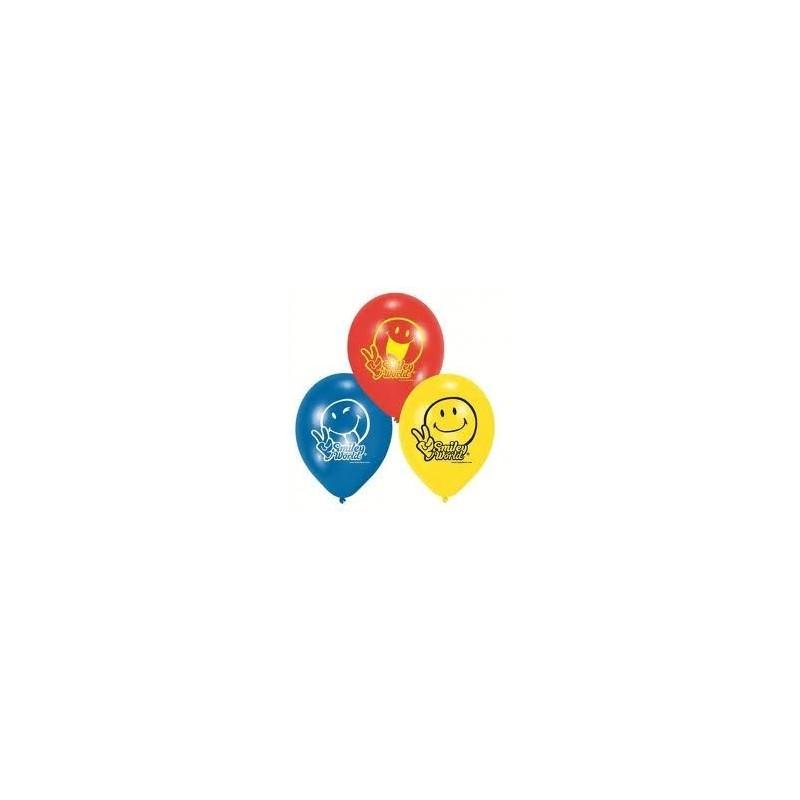 Riethmuller - Lot 6 Ballons à gonfler Smiley Comics