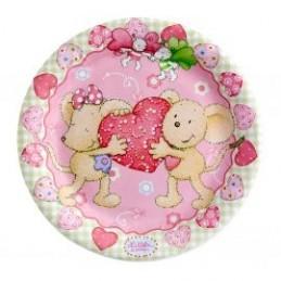 Riethmuller - Lot 8 assiettes en carton Lillebi Petite Souris 23cm diamètre