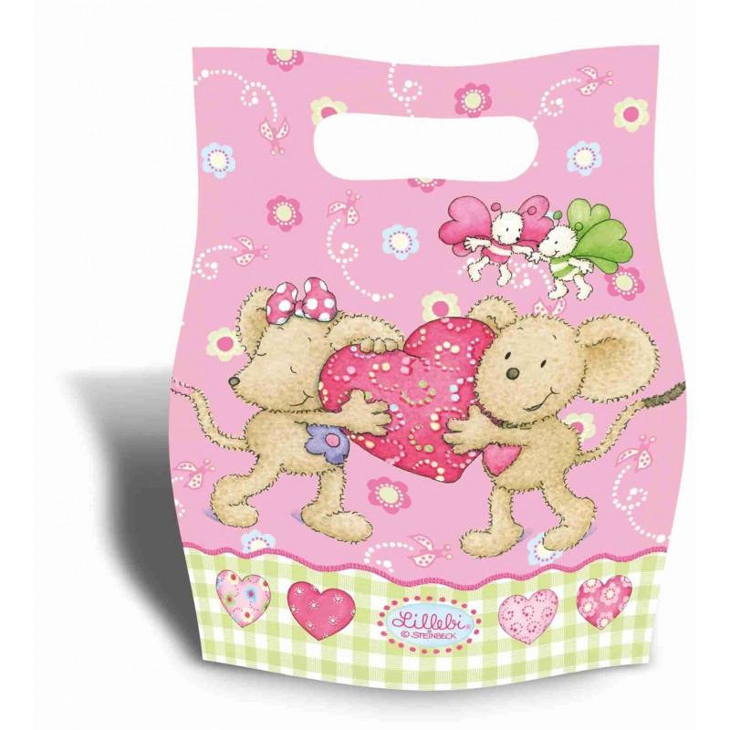 Riethmuller - Lot 6 sachets de fête, sac à bonbons Lillebi Petite Souris