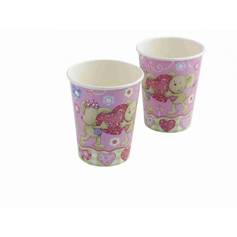 Riethmuller - Lot 8 gobelets en carton Lillebi Petite Souris