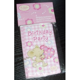 Riethmuller - Lot 6 Cartes invitation + enveloppes Lillebi Petite Souris