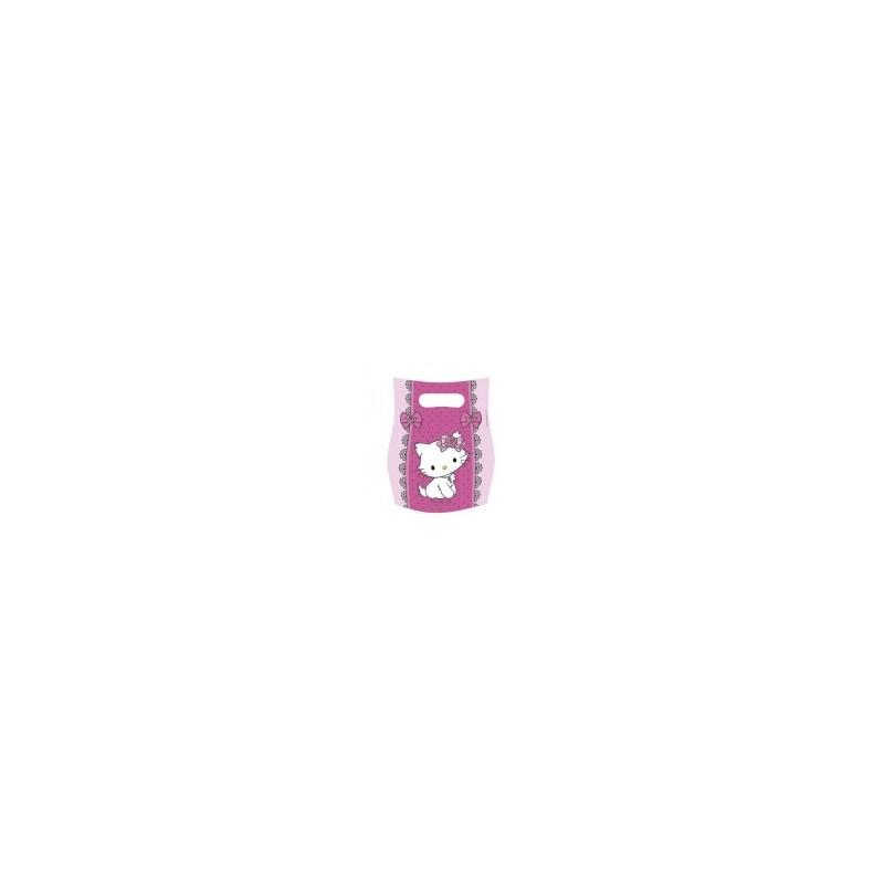 Riethmuller - Lot 6 sachets de fête, sac à bonbons Hello Kitty