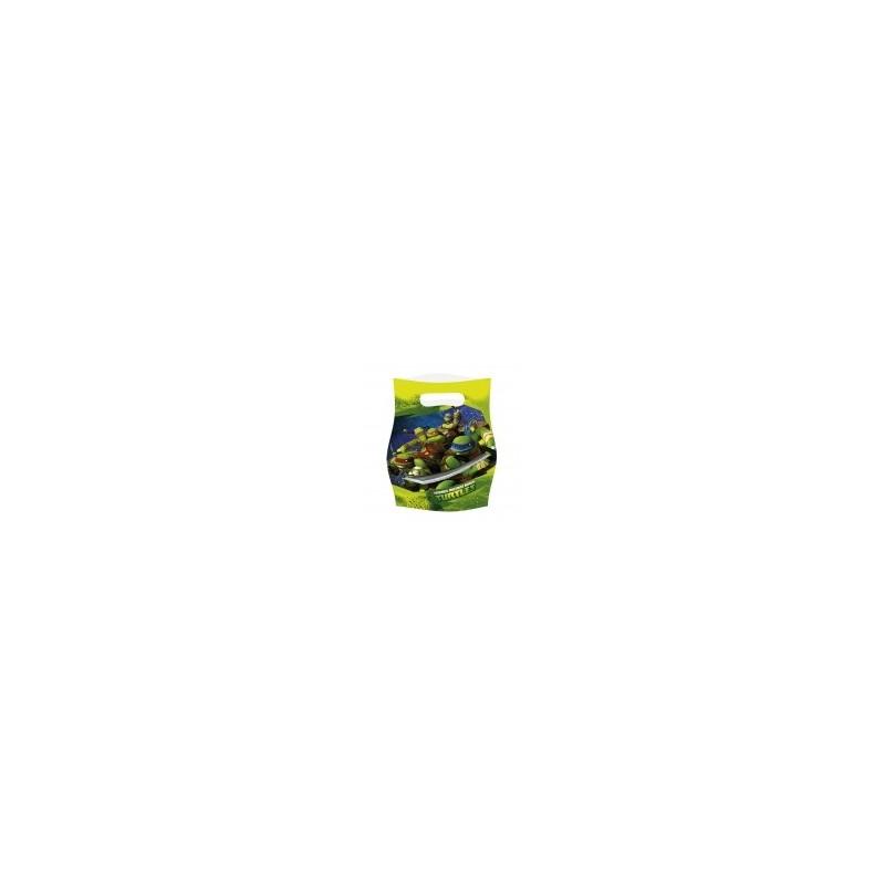 AMSCAN - 6 Sachets fête, Sac à bonbons Tortue Ninja