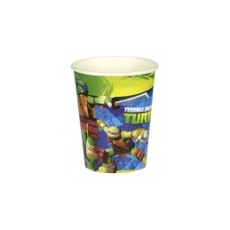 AMSCAN - Lot 8 Gobelets Carton Tortue Ninja 266ml