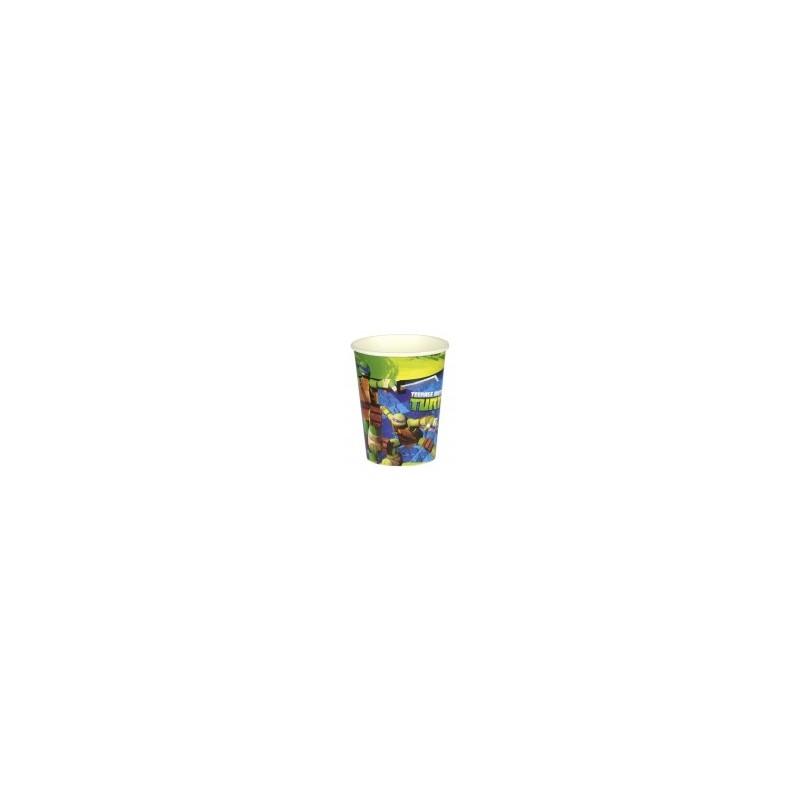 AMSCAN - Lot 8 Gobelets Carton Tortue Ninja 266ml