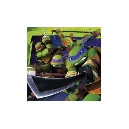 AMSCAN - Lot 20 Serviettes Papier Tortue Ninja 32.7 x 32.7cm