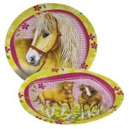 AMSCAN - Lot 8 Assiettes Carton Cheval 23cm diamètre