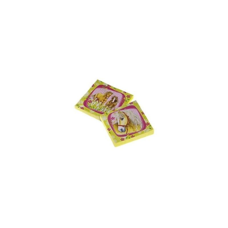 AMSCAN - Lot 20 Serviettes Papier Cheval 32.7 x 32.7cm