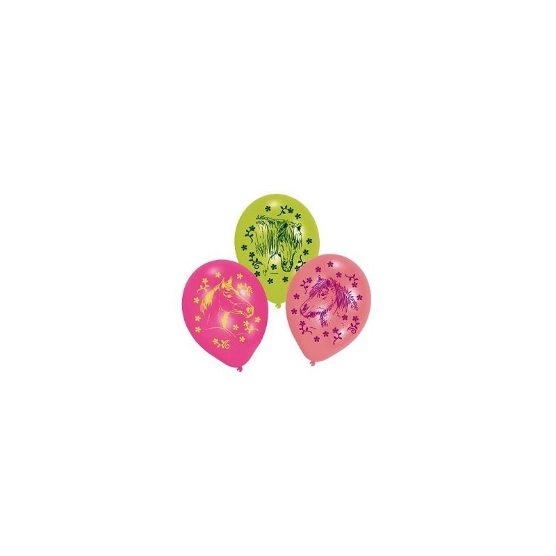 AMSCAN - Lot 6 Ballons à gonfler Cheval