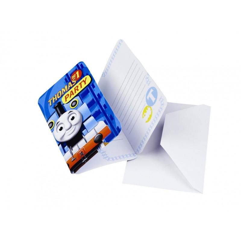 Riethmuller - Lot 6 Cartes invitation + enveloppes Thomas & Friends