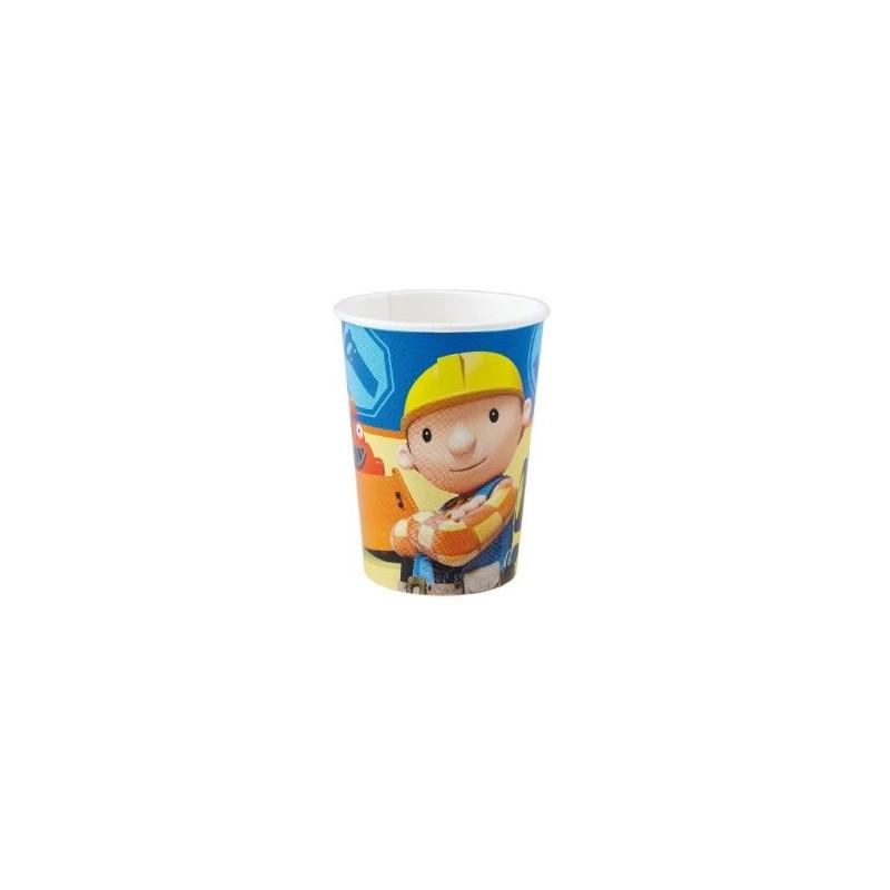 Riethmuller - Lot 8 gobelets en carton Bob le Bricoleur