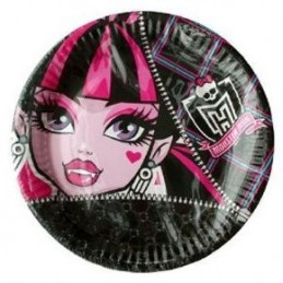 Riethmuller - Lot 8 assiettes en carton Monster High 23cm diamètre