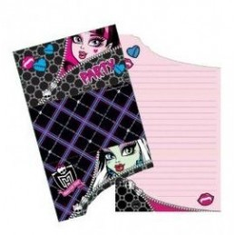 Riethmuller - Lot 6 Cartes invitation + enveloppes Monster High