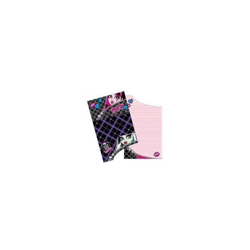 Riethmuller - Lot 6 Cartes invitation + enveloppes Monster High