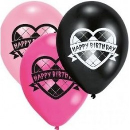 Riethmuller - Lot 6 Ballons à gonfler Monster High Happy Birthday