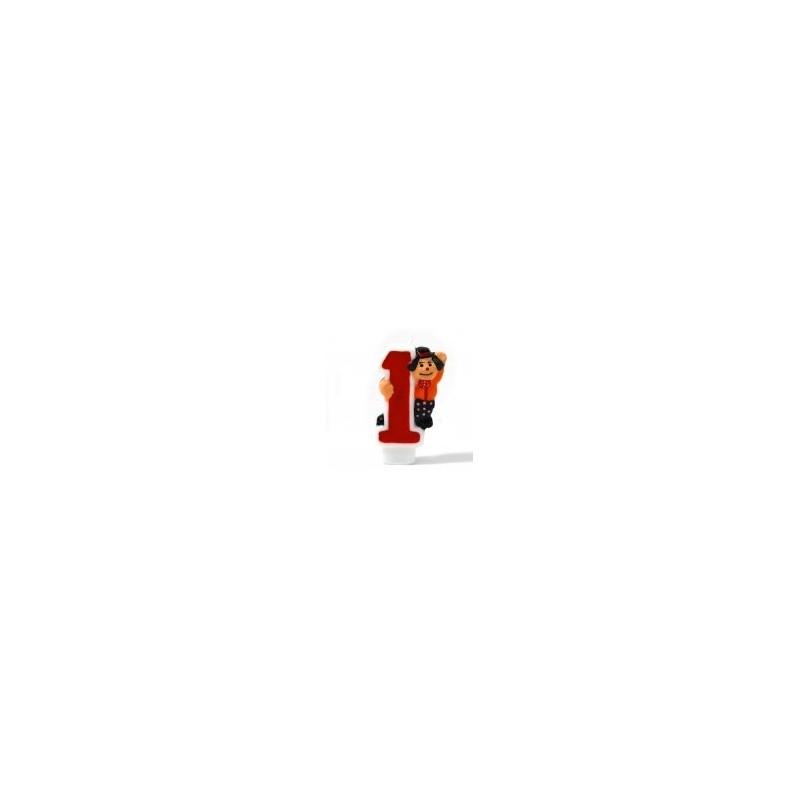 Riethmuller - Bougie Chiffre 1 - Clown - Hauteur env 8 Cm