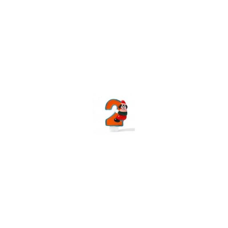 Riethmuller - Bougie Chiffre 2 - Clown - Hauteur env 8 Cm
