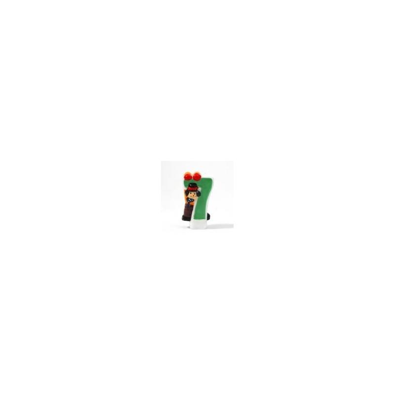 Bougie Chiffre 7 - Clown - Hauteur env 8 Cm