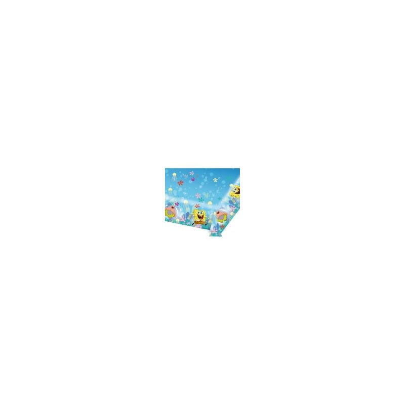AMSCAN - NAPPE Plastifiée Bob l'Eponge 1.80m x 1.20m