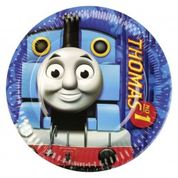 AMSCAN - Lot 8 Assiettes carton Thomas & Friends 23cm diamètre